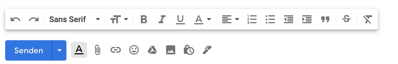 Die Formatierungs-Entfernen-Funktionen im E-Mail-Programm ist Gold wert.